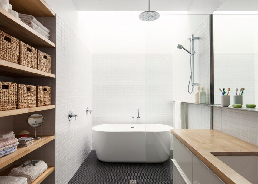 Maison de Gaspe features in Dezeen's Pinterest bathroom roundup
