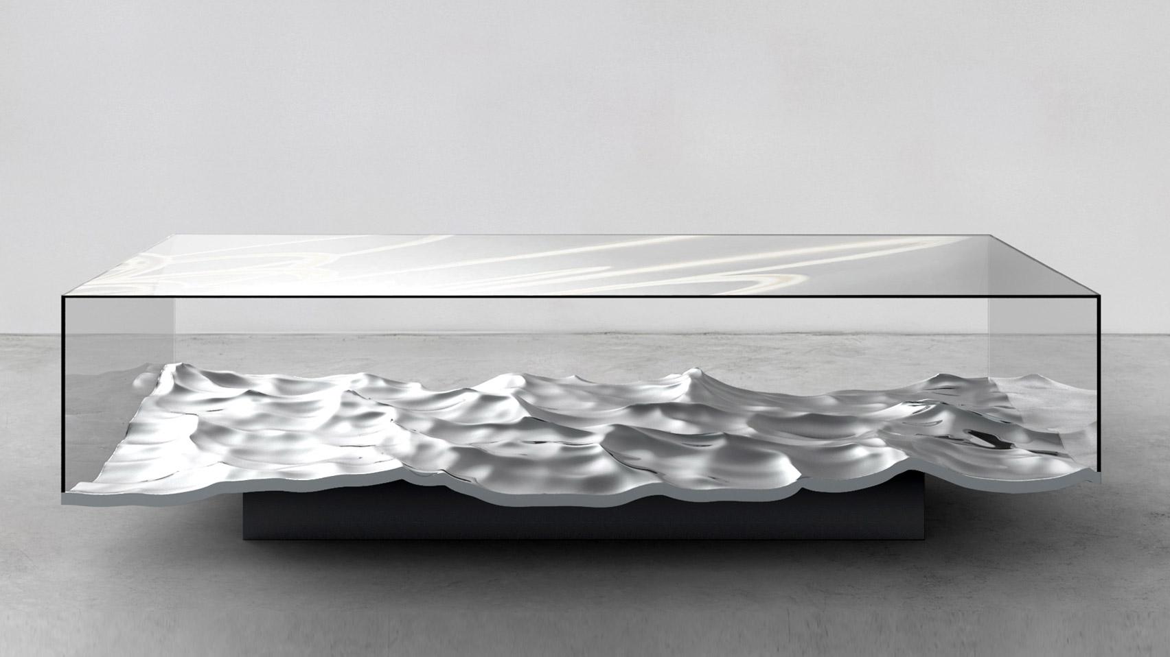 Mathieu lehanneur brings liquid marble technique to tables