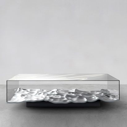 Mathieu Lehanneur's Spring exhibition includes new Liquid Marble tables