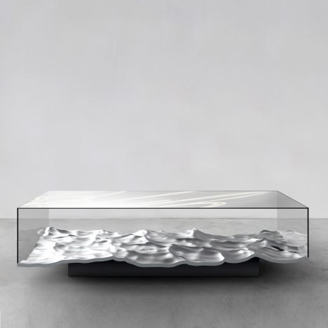 Mathieu Lehanneur brings Liquid Marble technique to tables