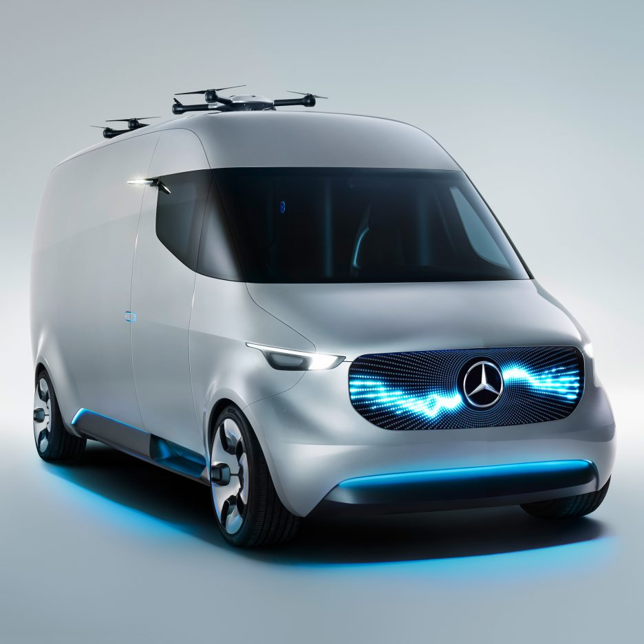 Mercedes benz unveils prototype for drone equipped for Mercedes benz van