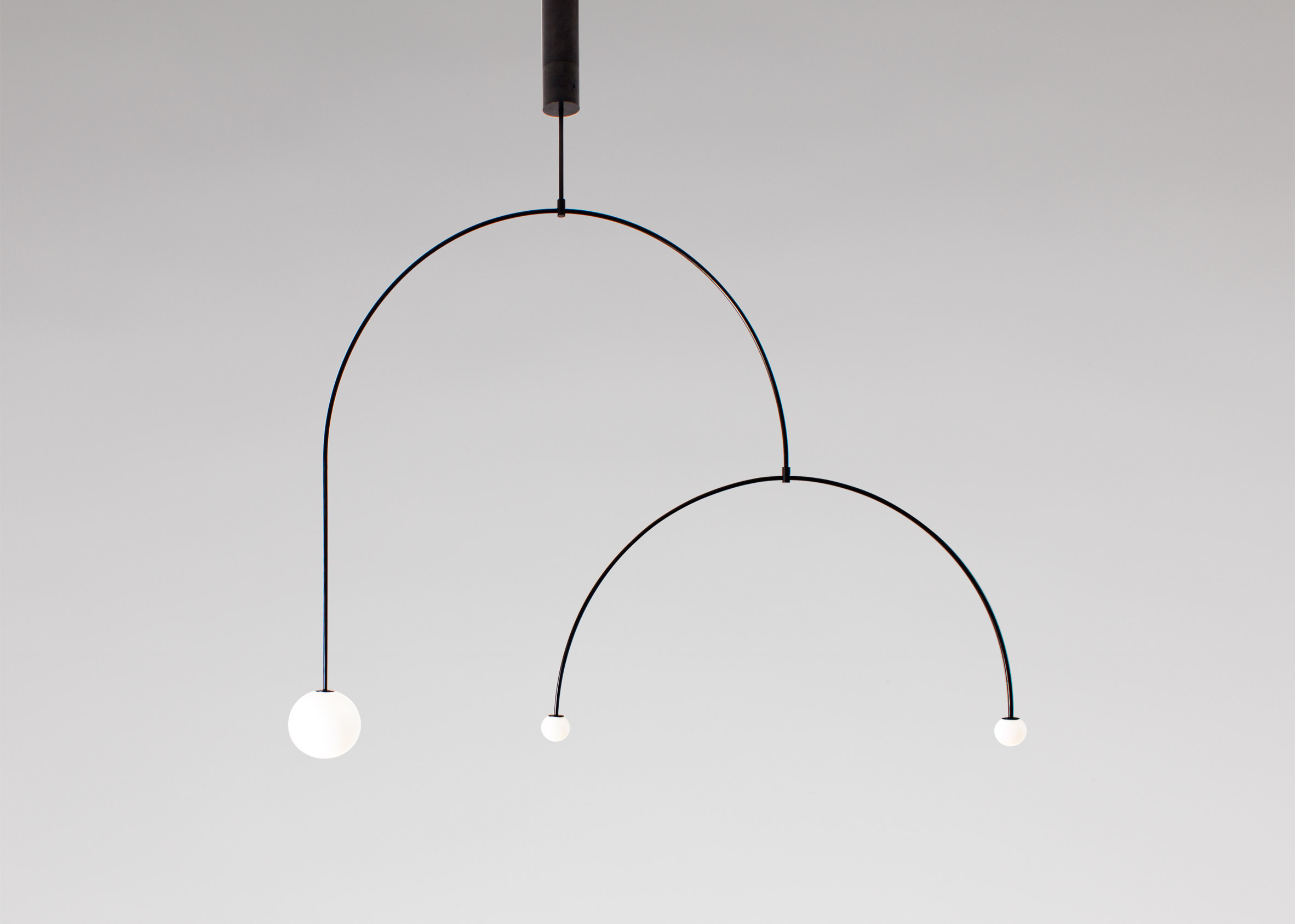 Michael Anastassiades' mobile chandelier 9 is one of James Mair's top five minimalist furniture choices
