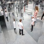 Scent-infused mirror maze by Es Devlin fills south London warehouse
