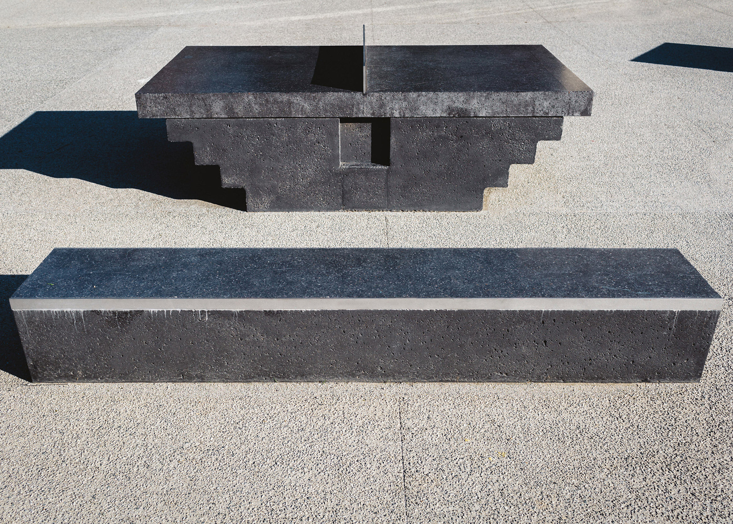 Monoliths Ping Pong Tables by Murray Barker & Laith McGregor