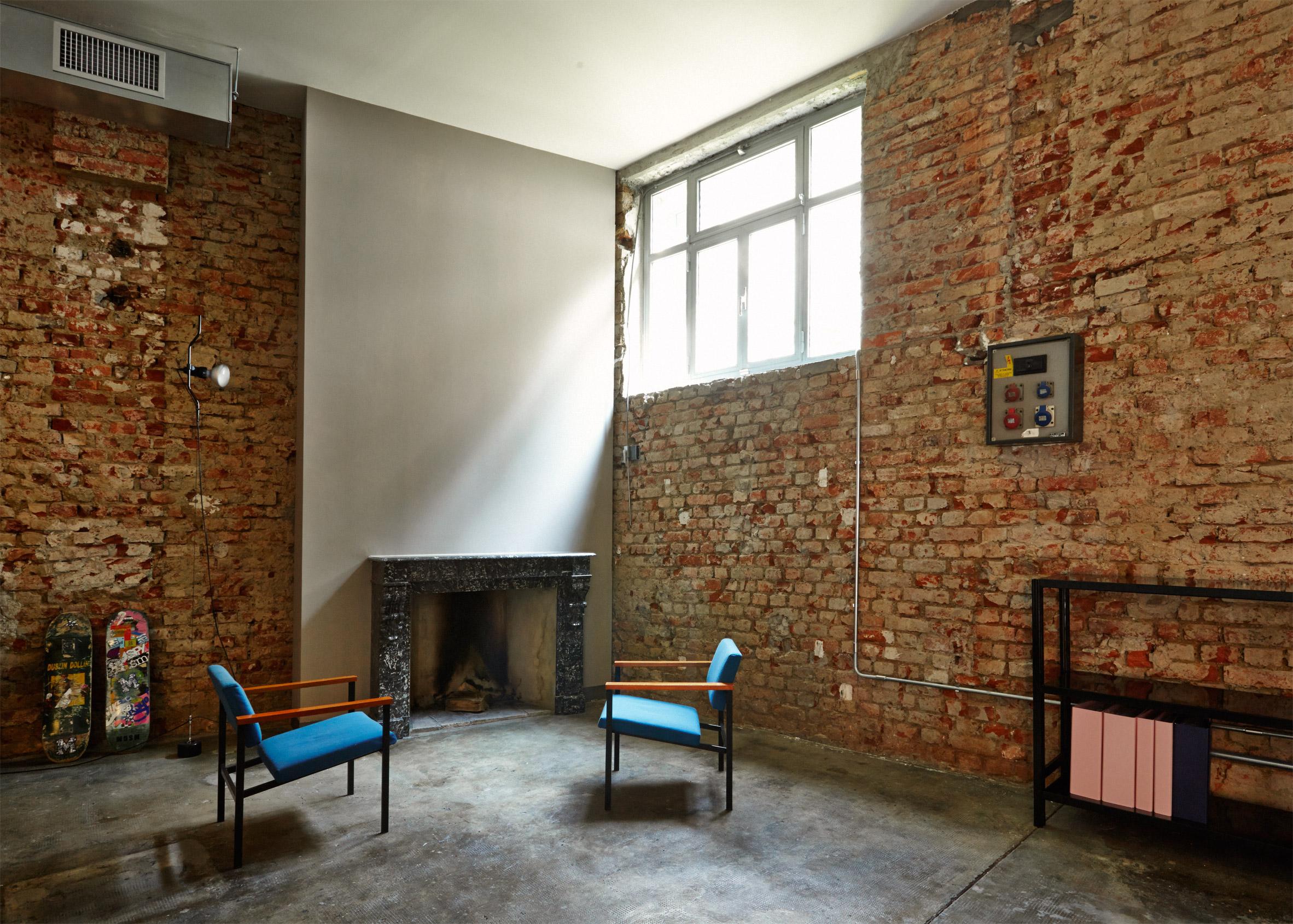 MSGM Headquarters by Fabio Ferillo on the top 10 brick interiors on Dezeen's Pinterest boards