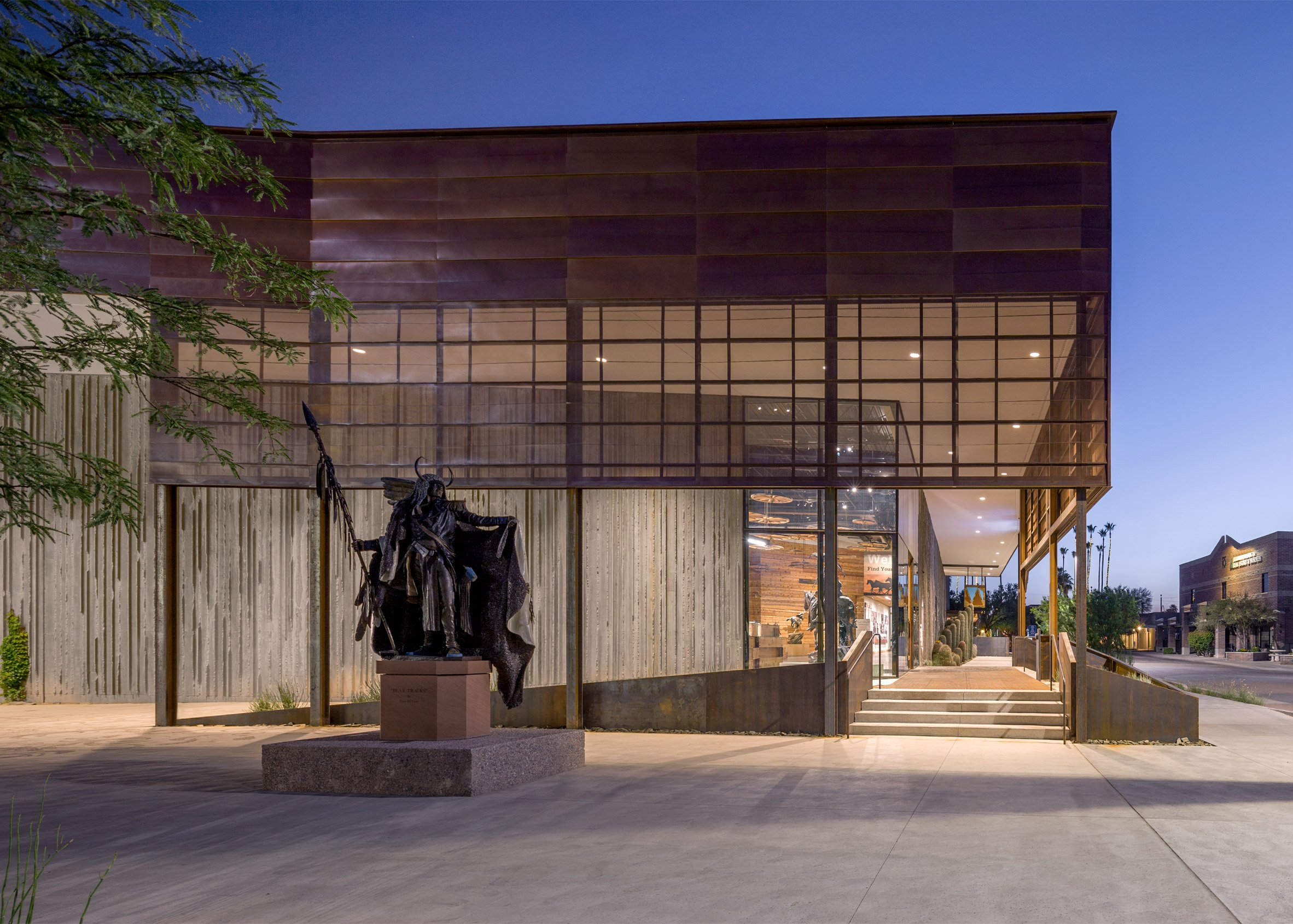 Studio Ma creates an Arizona museum with walls made of textured concrete
