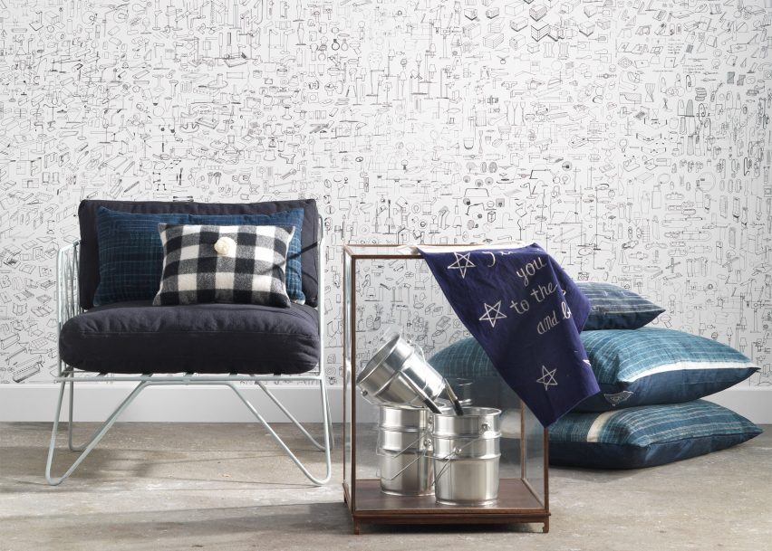 Piet Hein Eek designs oxidised copper wallpaper for NLXL Lab