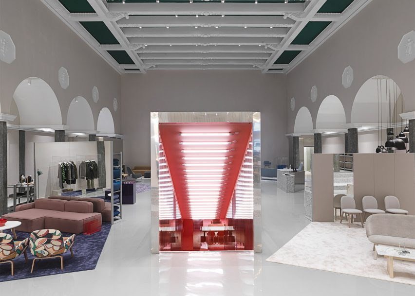 Normann Copenhagen Flagship Store Features Completely Pink Room