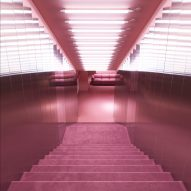 Normann Copenhagen's revamped flagship store features completely pink room