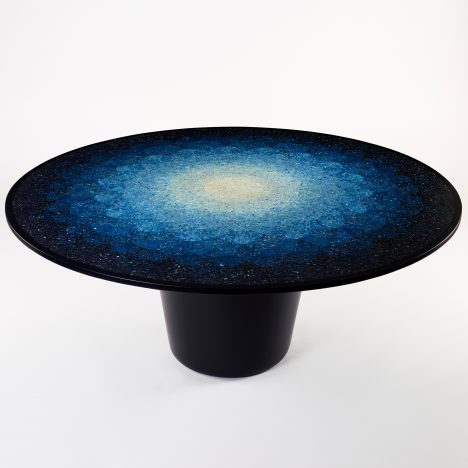 Brodie Neill creates terrazzo-effect table using recycled ocean plastics
