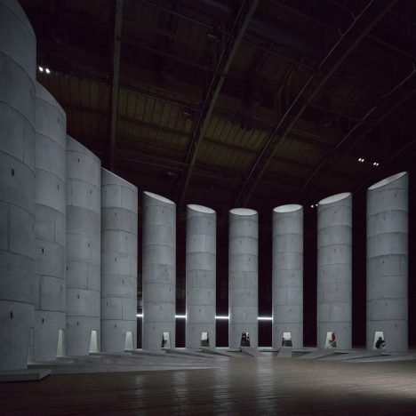OMA's monumental concrete wells host mourners at New York's Park Avenue Armory