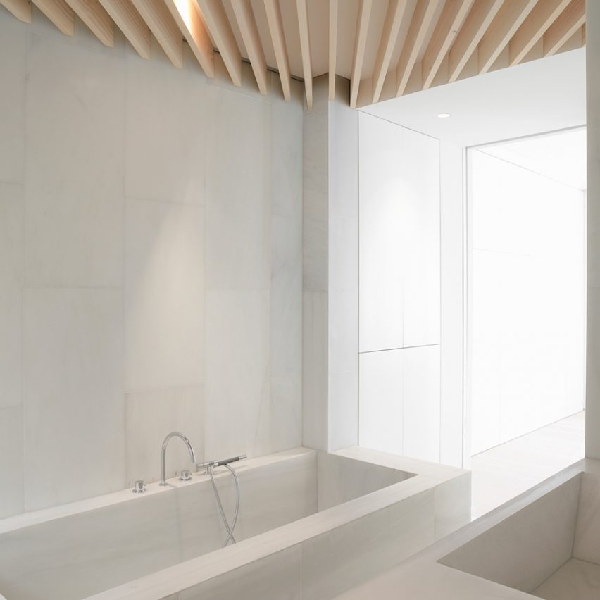 Orfila Flat by Schneider Colao is one of the 10 most popular marble interiors on Pinterest