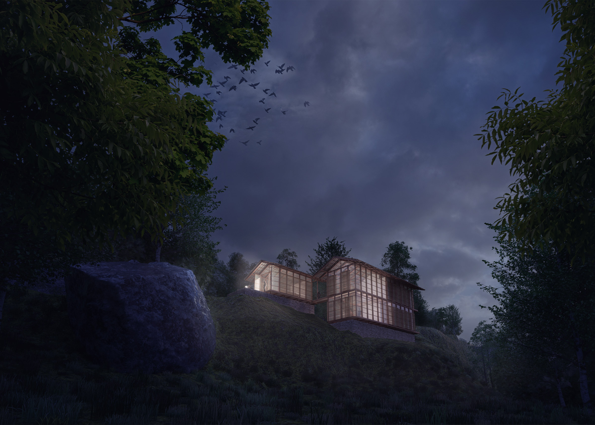 Carlo Ratti building digitally connected Pankhasari Retreat in the Himalayan mountains