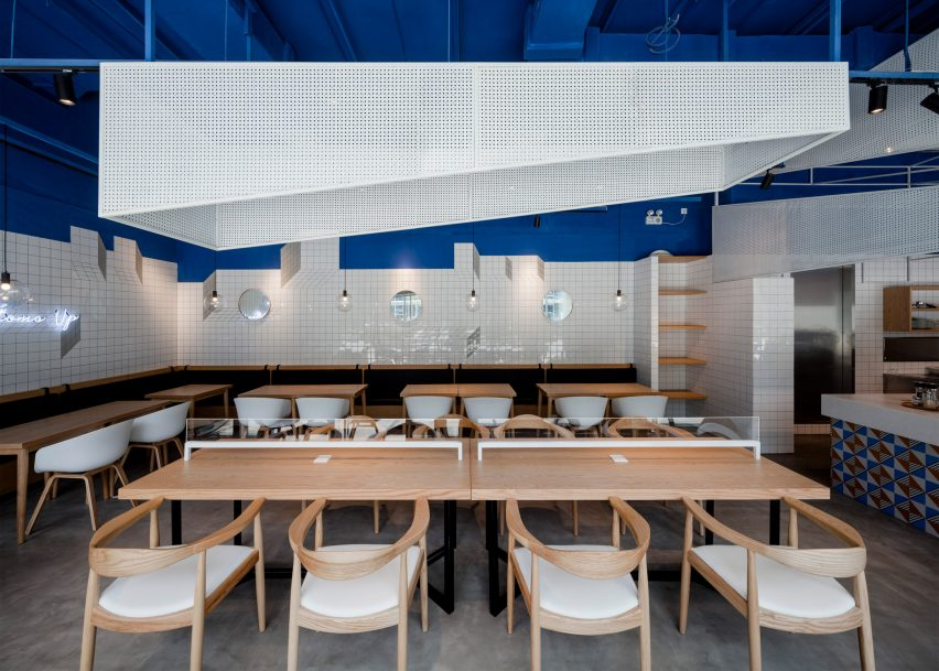 swimming pool studio bases shanghai cafe interior on the