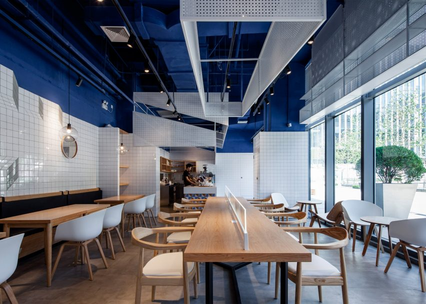 Image result for cafeteria blue design