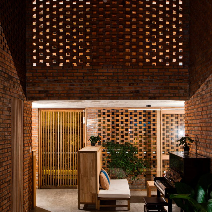 Perforated Brick House By Tropical Space On The Top 10 Brick Interiors On  Dezeenu0027s Pinterest Boards