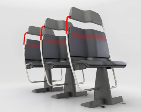"PriestmanGoode ""re-evaluates sitting"" with designs to tackle train overcrowding"