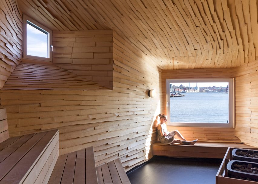 Raumlabor Goteborg sauna is part of Jane Withers' Soak Steam Dream exhibition at the London Design Festival 2016