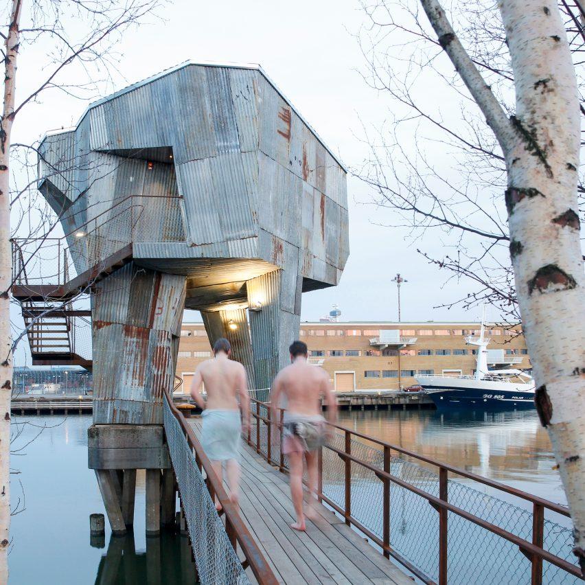 Raumlabor Goteborg sauna is part of Jane Withers' Soak Steam Dream exhibition at the London Design Festival 2016