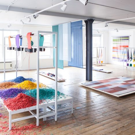 Raw Color turns office supplies into chromatic experiments for Aram Gallery exhibition