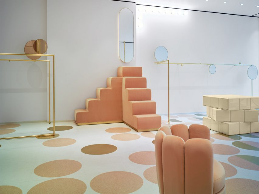 India Mahdavi pairs pink and yellow for Red Valentino store in London