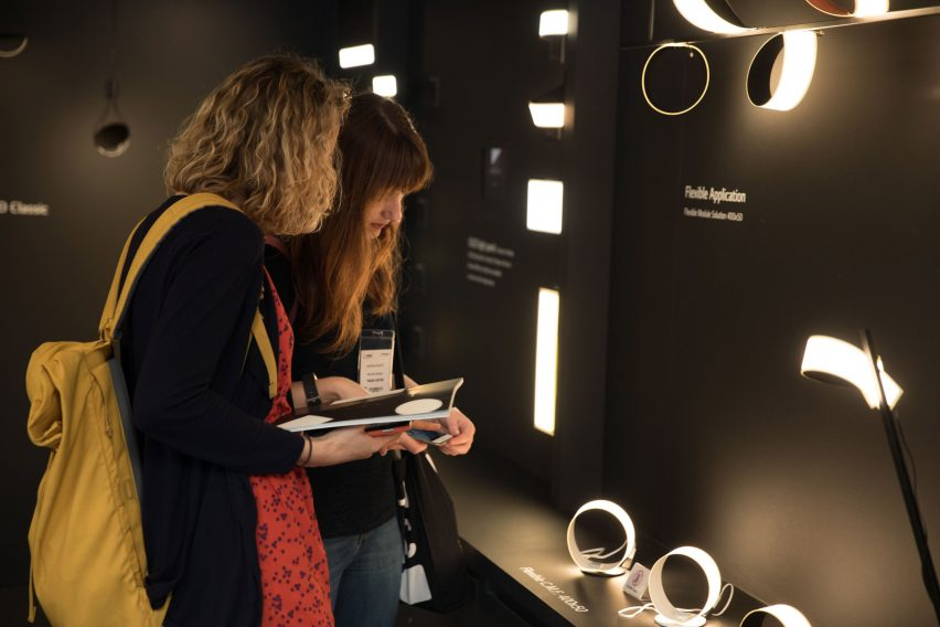 LG Display OLED light installation by Ron Arad