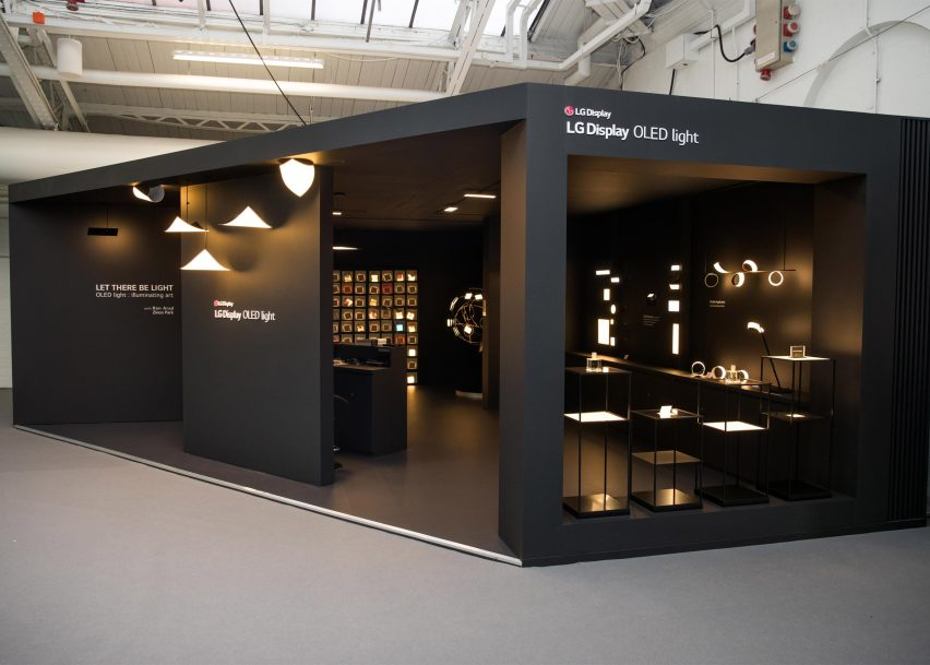 LG Display OLED light installation by Ron Arad