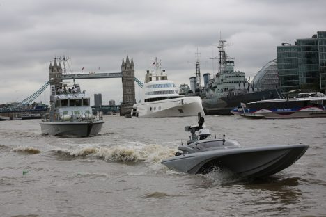 Royal Navy tests drone speedboat on London River Thames