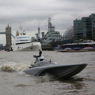 UK's Royal Navy tests drone speedboat on River Thames