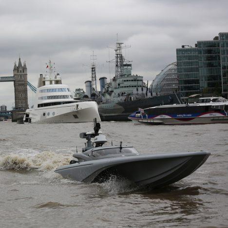 UK's Royal Navy tests drone speedboat on River Thames