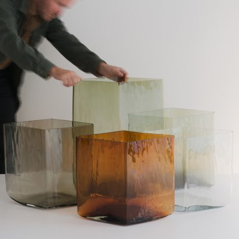 Bouroullec brothers create limited-edition Ruutu vases for Galerie Kreo