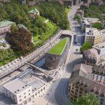 Santiago Calatrava plans Zurich office block with 1000 bicycle parking spaces