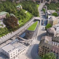 Santiago Calatrava plans Zurich office block with 1000 bicycle parking spaces