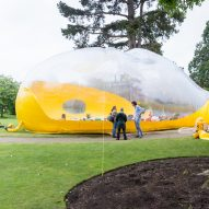 Bubble-like event space by DOSIS to be inflated in east London park