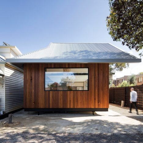 OSK Architects hides a second storey beneath Seddon House's angular metal roof