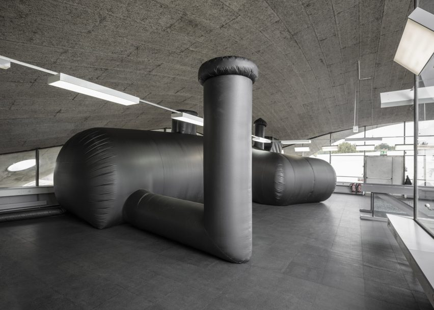 Inflatable nightclub created by bureau a for federation of swiss