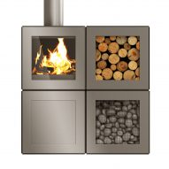 Philippe Starck designs modular Speetbox wood-burning stove