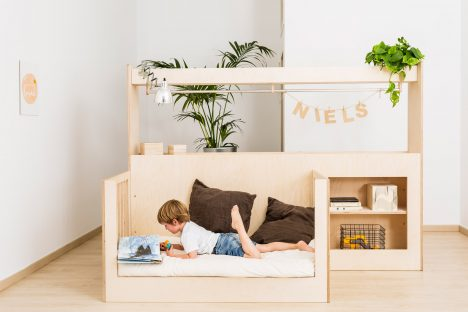 Teehee designs adjustable furniture that grows up as children do
