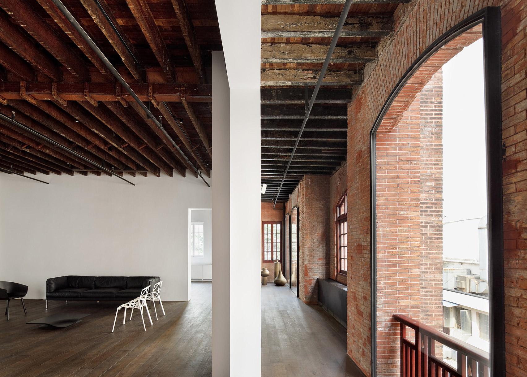 The Design Republic Commune by Neri&Hu on the top 10 brick interiors on Dezeen's Pinterest boards
