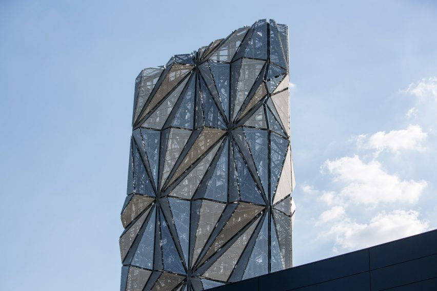 """conrad shawcross forays into architecture with tower """"defying"""