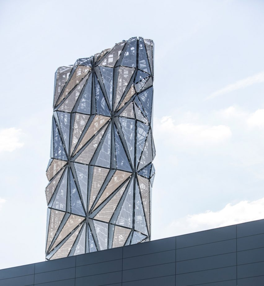 "Conrad Shawcross forays into architecture with faceted tower that ""defies definition"""