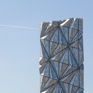 """Conrad Shawcross forays into architecture with faceted tower that """"defies definition"""""""