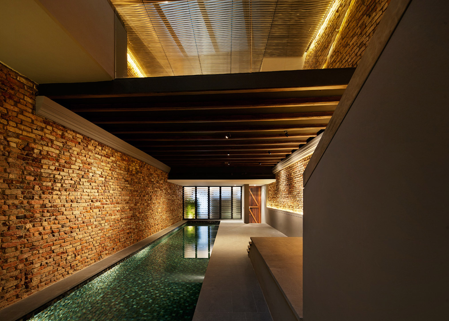 The Pool Shophouse By FARM and KD Architects on the top 10 brick interiors on Dezeen's Pinterest boards
