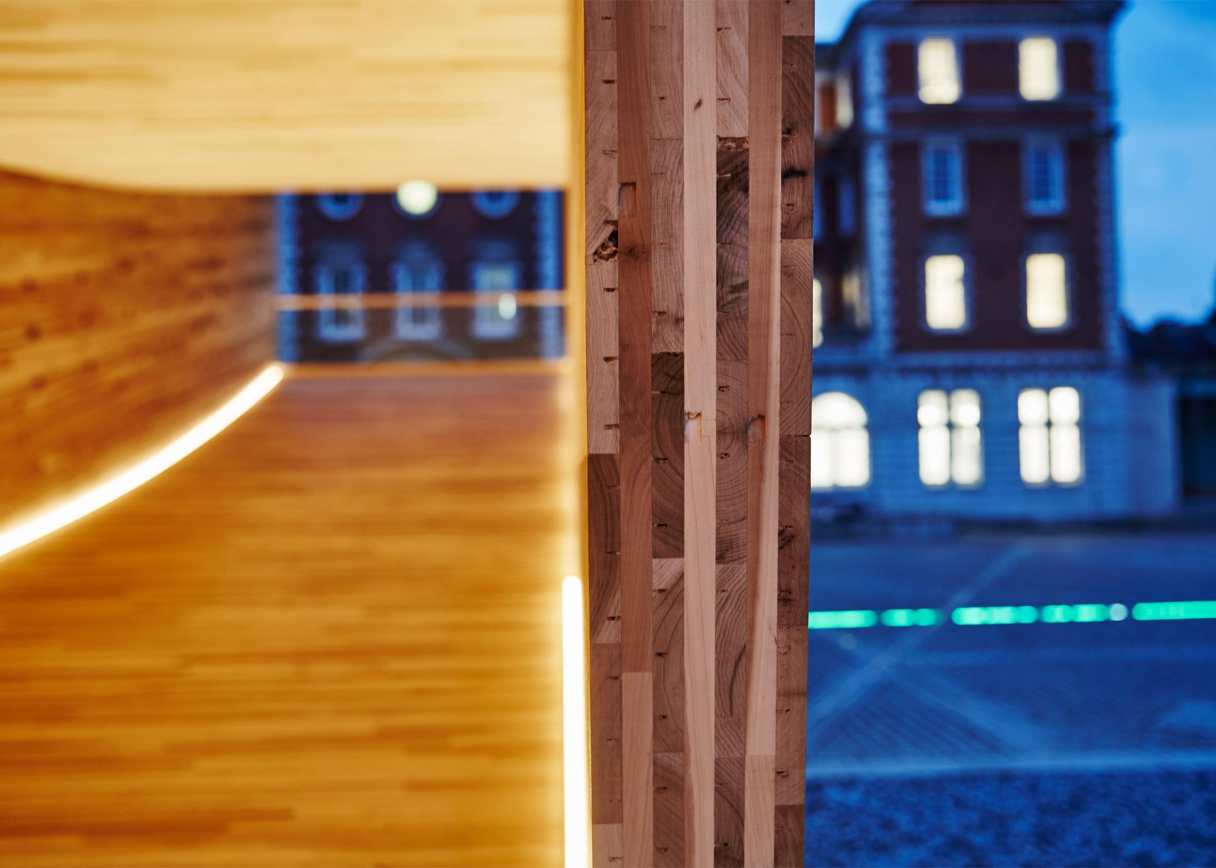 Alison Brooks creates The Smile using cross-laminated tulipwood