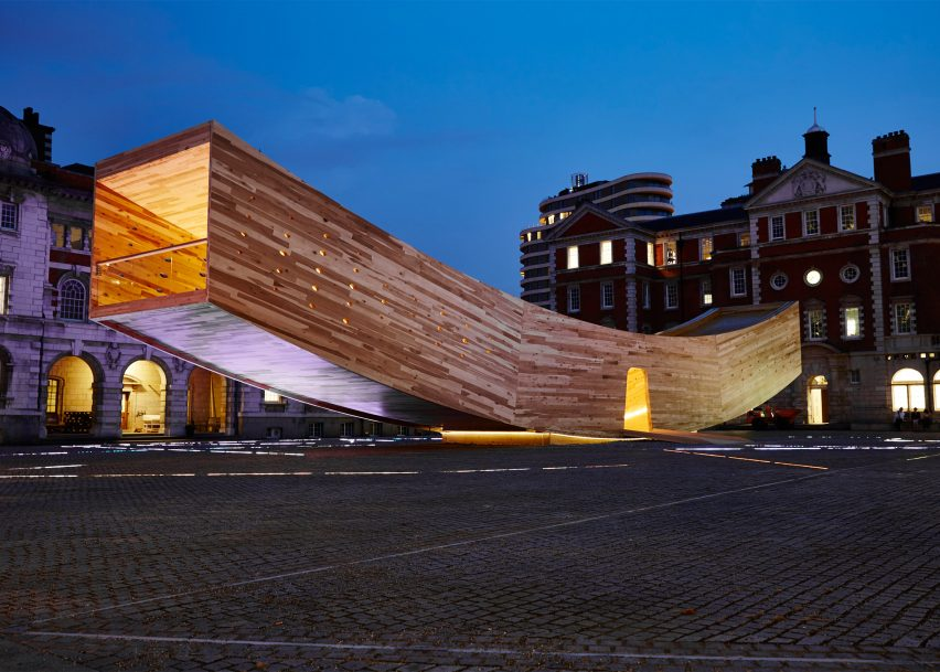 Alison Brooks creates The Smile using cross-laminated tulipwood