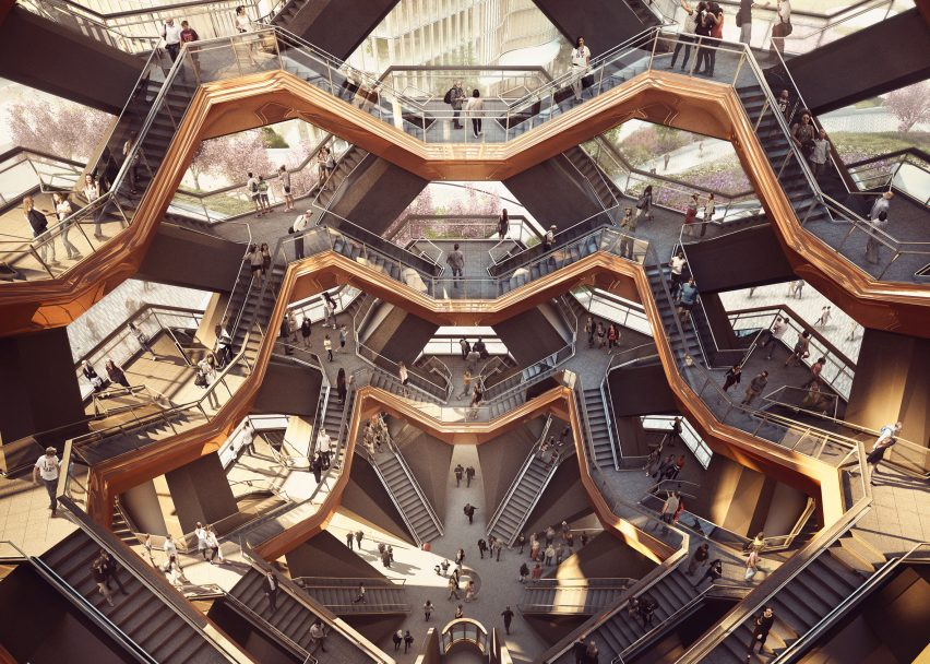 Thomas Heatherwick's Vessel structure at Hudson Yards