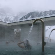 Peter Zumthor's Therme Vals spa photographed by Fernando Guerra