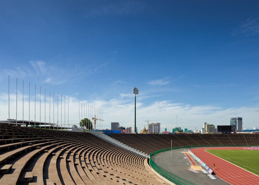 The National Olympic Stadium by Van Molyvann