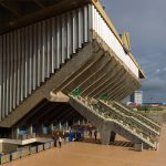 Modernist stadium in Cambodia captured in new photos by Virgile Simon Bertrand