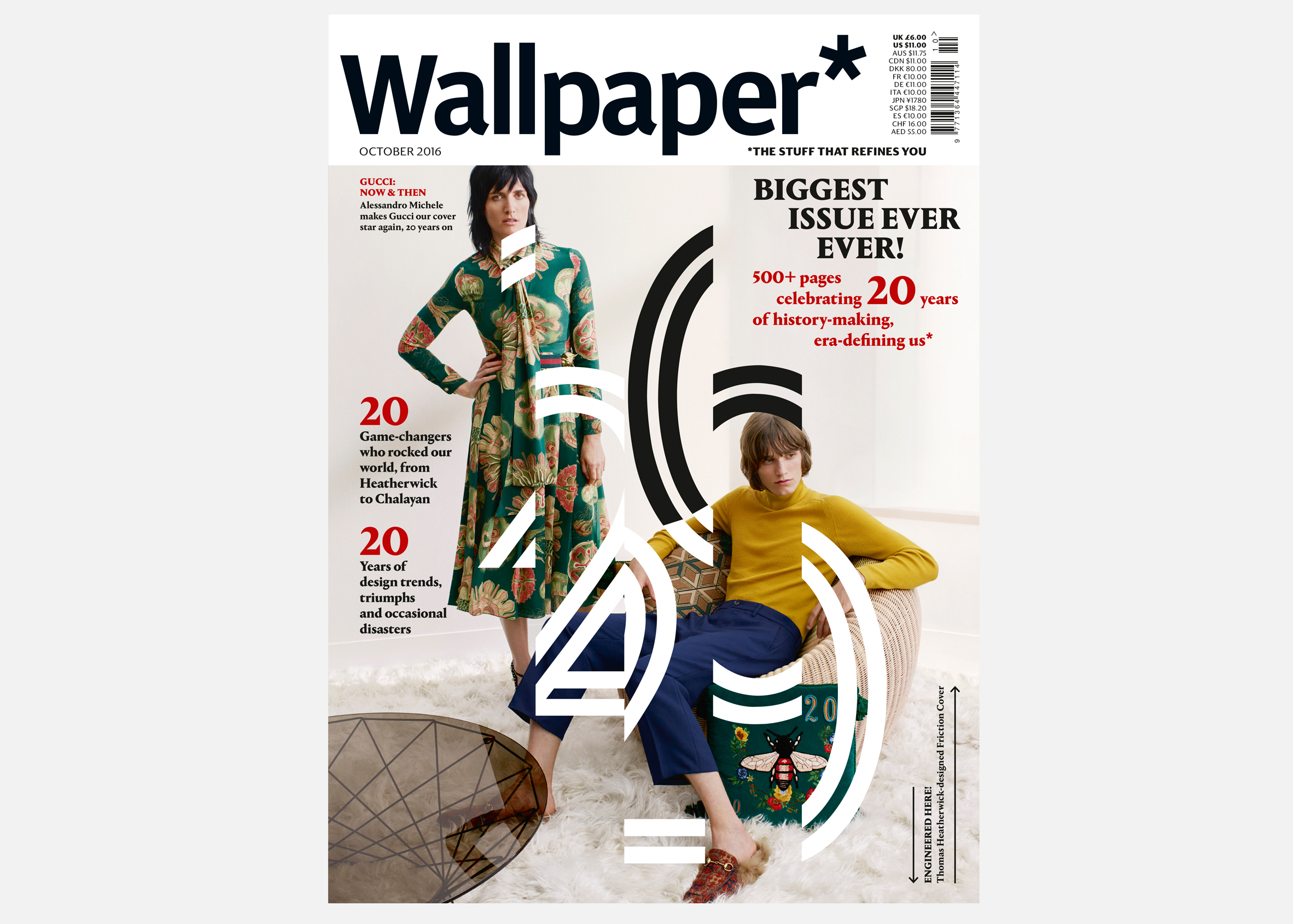 Heatherwick Designs Magazine Cover For Wallpapers 20th Anniversary